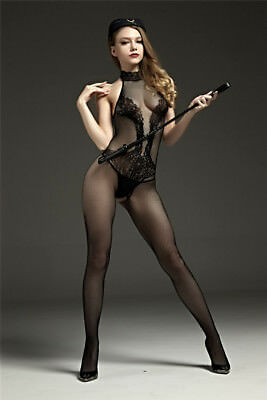 sexy Catsuit Dessous Babydoll Bodystocking erotik Reizwäsche Overall SM bandage 4