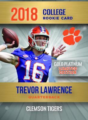 3 Card Lot- 2017-18 Leaf High School Coll Gold Plat Trevor Lawrence  Rcs Clemson