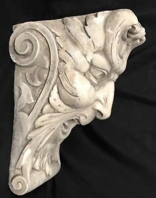 Laughing Face Wall Corbel Bracket Shelf Architectural Accent Home Decor 6