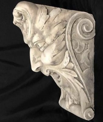 Laughing Face Wall Corbel Bracket Shelf Architectural Accent Home Decor 7