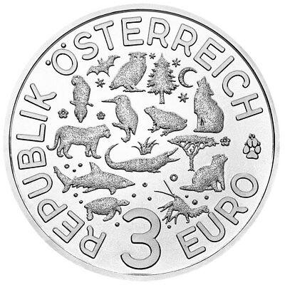 Österreich - 3 Euro 2018 - Tier- Taler- Serie - Der Frosch (9.) - CN Handgehoben