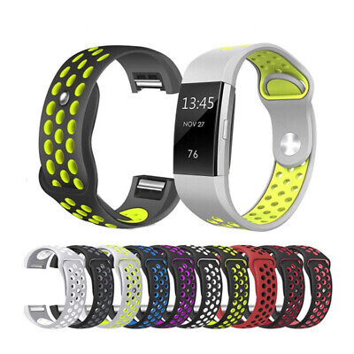 For Fitbit Charge 2 Bands Replacement Sport Strap Band Soft Silicone Adjustable 2