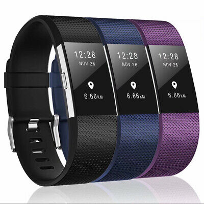 Fitbit Charge 2 Band Various Silicone Band Replacement Wristband Watch Strap New 4