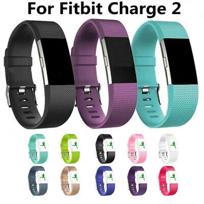 For Fitbit Charge 2 Bands Replacement Sport Strap Band Soft Silicone Adjustable 3