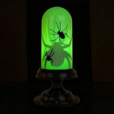 ... Creepy Sounds Halloween Motion Activated Animated Green Moving Spider Tabletop 4