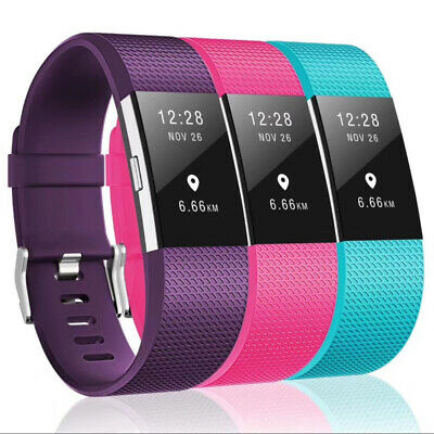 Fitbit Charge 2 Band Various Silicone Band Replacement Wristband Watch Strap New 3