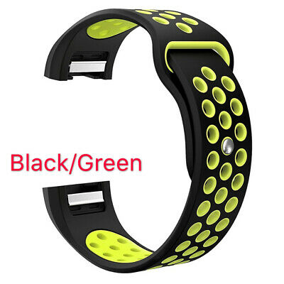 For Fitbit Charge 2 Bands Replacement Sport Strap Band Soft Silicone Adjustable 4