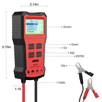 ANCEL BST100 12V 220Ah 2000CCA Battery Load Tester Vehicle Battery Analyzer Tool 3