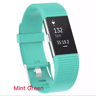 For Fitbit Charge 2 Bands Replacement Sport Strap Band Soft Silicone Adjustable 8