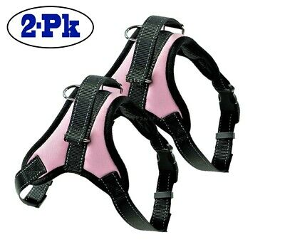 2-PACK Dog Pet Vest Harness Strap Adjustable Nylon Small Medium Large XL No Pull 5