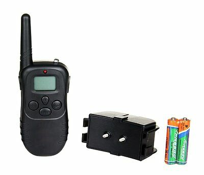 Remote LCD 100LV 300M Electric Shock Vibrate Pet Dog Training Collar Waterproof 3
