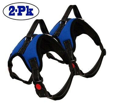 2-PACK Dog Pet Vest Harness Strap Adjustable Nylon Small Medium Large XL No Pull 8