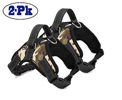 2-PACK Dog Pet Vest Harness Strap Adjustable Nylon Small Medium Large XL No Pull 4