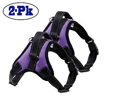 2-PACK Dog Pet Vest Harness Strap Adjustable Nylon Small Medium Large XL No Pull 11