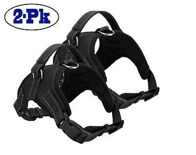 2-PACK Dog Pet Vest Harness Strap Adjustable Nylon Small Medium Large XL No Pull 2