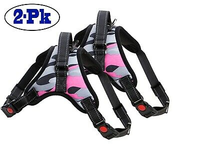 2-PACK Dog Pet Vest Harness Strap Adjustable Nylon Small Medium Large XL No Pull 6