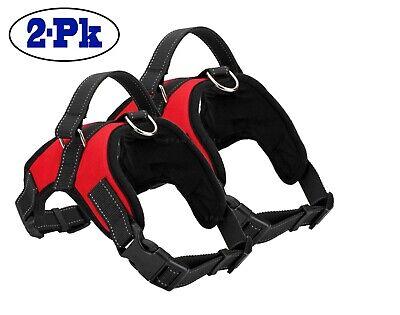 2-PACK Dog Pet Vest Harness Strap Adjustable Nylon Small Medium Large XL No Pull 3
