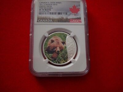 2017 CANADA $10 - Grizzly Bear - Fine Silver Coin - NGC PF 70 ULTRA CAMEO FR 3