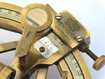 Nautical Brass Antique Marine Navy Astrolabe Maritime Collectible Sextant Gift 4