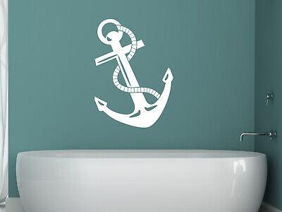Wandtattoo Anker Bad Badezimmer Maritime Deko Wandaufkleber Fliesenaufkleber Tur Eur 16 95 Picclick De