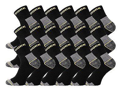 9/12/15/18/21 Paar Arbeitssocken WORK Kurzschaft Socken Komfortbund ROBUST!
