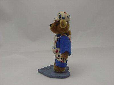 "World of Miniature Bears 2.75/"" Plush Bear Gus Black//White #5025BW Collectible"