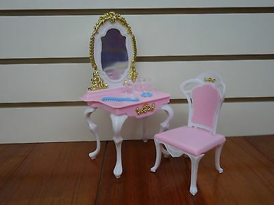 My Fancy Life Barbie Size Dollhouse Furniture Bed Room & Beauty Play Set 3