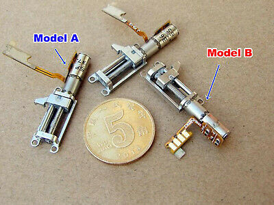 Micro 4mm 2-Phase 4-Wire Stepper Motor with Planetary Gearbox Screw Slider Nut 2