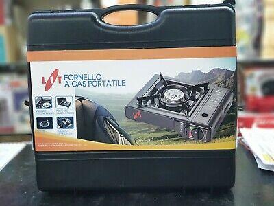 Fornello Da Campeggio A Gas + 4 Bombolette Cucina Portatile + Omaggio Valiggetta 3