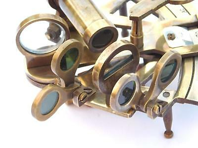 Solid Brass Marine Sextant Astrolabe Antique Reproduction Maritime Nautical Ship 3