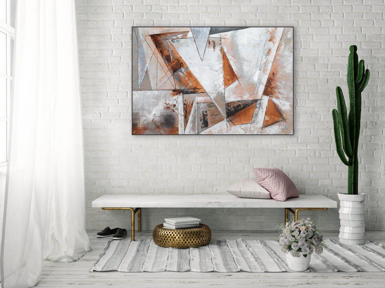 Acryl Gemälde 'GIER NACH FREIHEIT' | HANDGEMALT | Leinwand Bilder 120x80cm 4