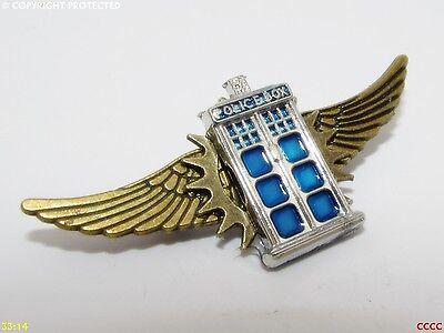 Steampunk badge brooch pin tardis new Dr Doctor Who policebox spider arachnid