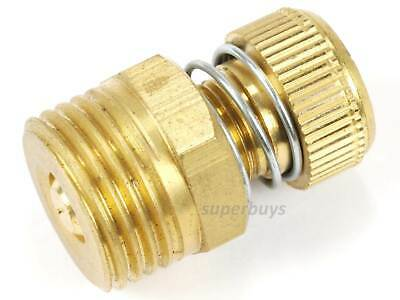 "1/2"" NPT Adjustable Spring Pneumatic Silencer Brass Flow Muffler Exhaust Valve 2"