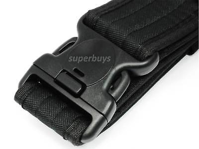 Black Heavy Duty Tactical Quick Release Belt Military Bouncer Emergency 54mm 2