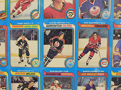 1979 80 O Pee Chee Uncut Sheet With Mint Wayne Gretzky Rookie Card Rare