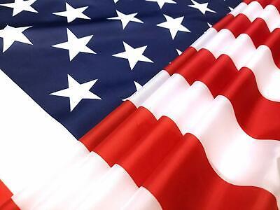 3x5 ft US American Flag Heavy Duty Nylon Print Stars Sewn Stripes Grommets 8
