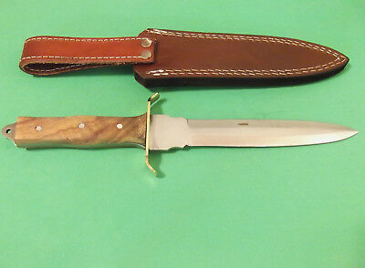 "FULL TANG DAGGER 203363 wood handle fixed blade knife 11 3/8"" overall PA3363 NEW 3"