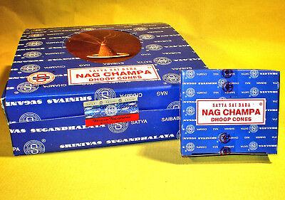 Encens Satya Nag Champa en cônes - 1 boite de 12 cônes 3