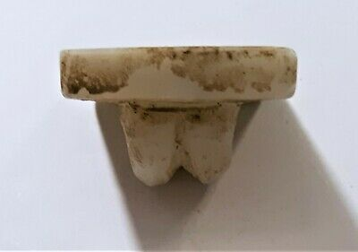 Ancient Indus Valley Mohenjo Daro White Marble Stamp Seal 6