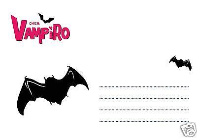 5 Ou 12 Cartes Invitation Anniversaire Chica Vampiro Ref 326 Eur 2