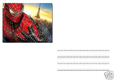 5 Ou 12 Cartes Invitation Anniversaire Spiderman Ref 268