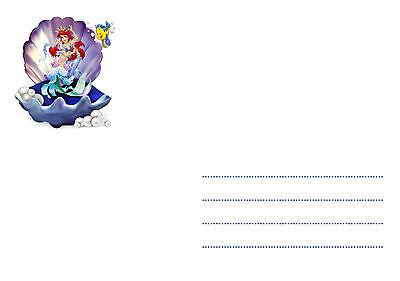 5 12 Ou 14 Cartes Invitation Anniversaire Petite Sirene Ref 423