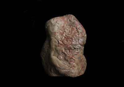 China 19. Jh Soapstone - a Chinese Soapstone Boulder Carving - Chinois Qing 8