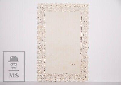 Antique Paper Lace Holy Card - Saint Ferdinand - Nuremberg, Germany 2