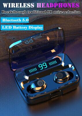 Bluetooth 5.0 Headset TWS Wireless Earphones Mini Stereo Headphones LED Earbuds 3