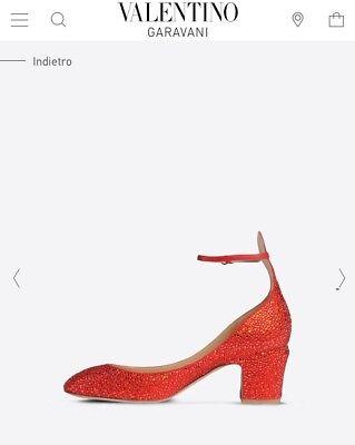 55f043da699 4 of 12 Valentino Garavani Swarovski Crystal Strass Ruby Red Tan-Go Dorothy  Oz Heels 36