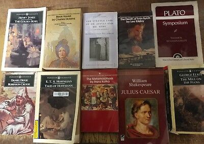 Lot of 10 Classic Paperback Literature Book Penguin Orwell Dickens Steinbeck Mix 7