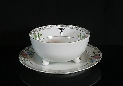 Footed Bowl and Underplate - Noritake/Morimura - Footed Bowl - Art Deco 2