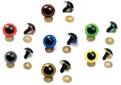 8-20 mm Plastic Safety Eyes Blue Green Red Brown Amber Amigurumi Toy Teddy Bear 5