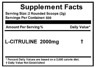 L-CITRULLINE Powder -Pure -Increase Performance -NON GMO -All Sizes 5